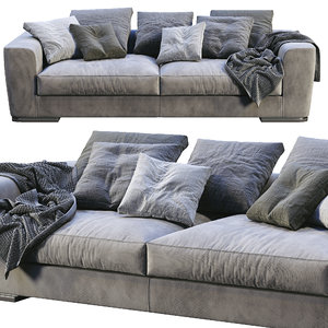 flexform sofa scott 3D model