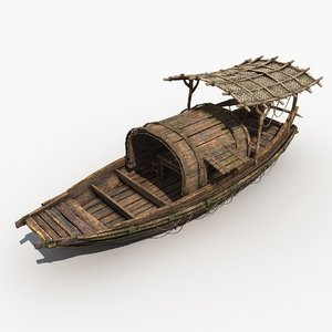 3D ships chinese ancient