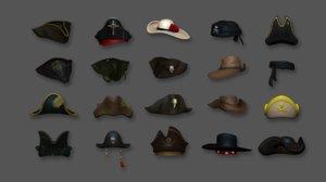 hat - pirates character 3D model