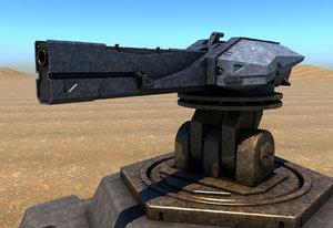 railgun turret 3D model