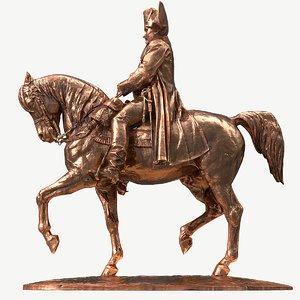 3d fbx statue napoleon ue includes