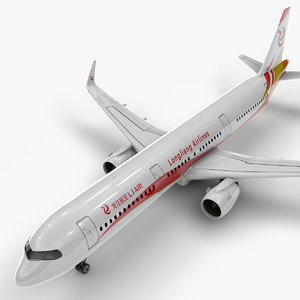 a321 neo longjiang airlines 3D
