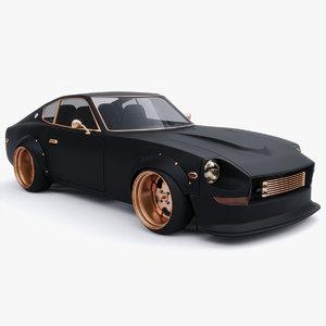3D nissan datsun 240z model