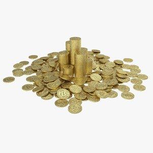 3D bitcoin pile