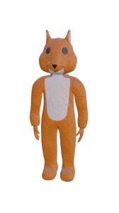 3D squirrel costume dance model