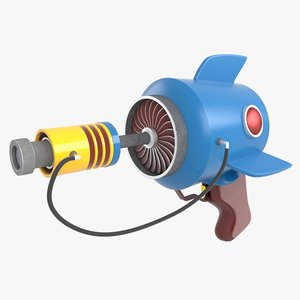 3D cartoon gun model