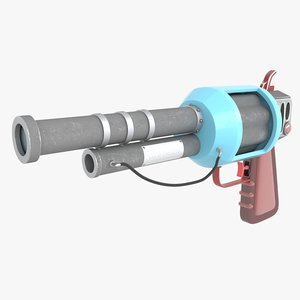 cartoon gun model