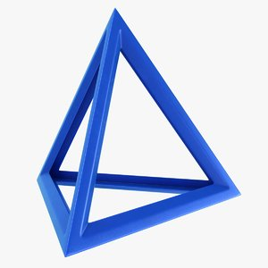 3D model tetrahedron scanline ready