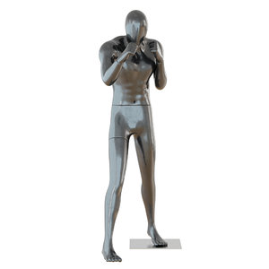 male black mannequin boxing 3D model