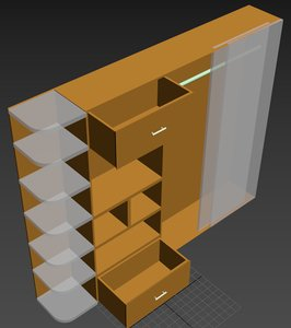 3D furniture cupboard model