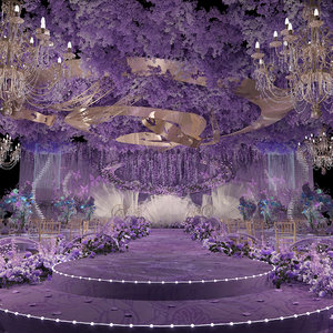 3D luxury wedding stage