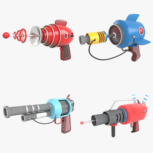 cartoon gun pack model