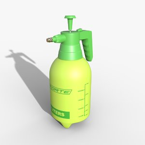 spray green 3D model