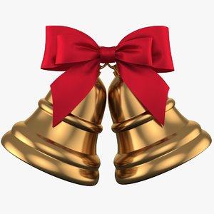 christmas bell 04 3D model