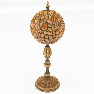 stylized lamp amber 3D