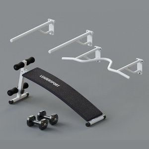 set bench dumbbells 3D