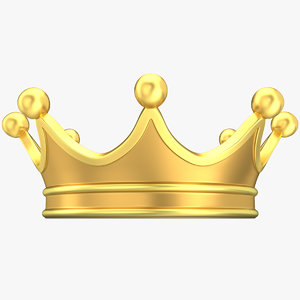 3D king crown