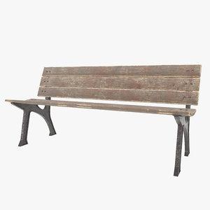 3D bench pbr ready model