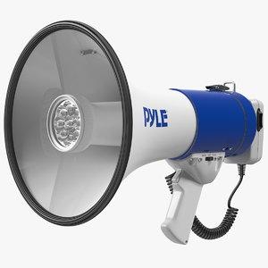 pyle megaphone speaker led 3D