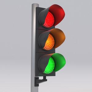 traffic light led 2 3D model