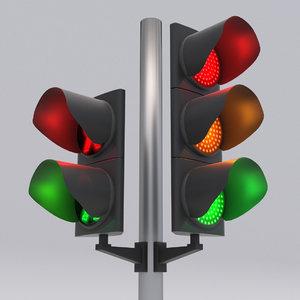 3D traffic light led
