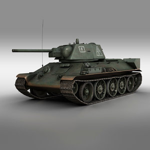 t-34-76 - 1942 soviet 3D model