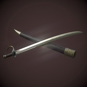 3D model cutlass sword