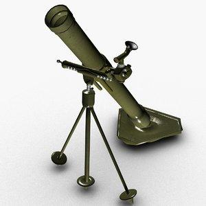 mortar weapon 3D