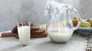 milk still-life 3D model