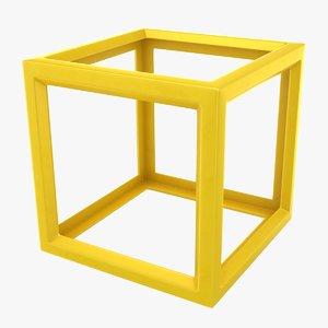 cube scanline ready 3D model