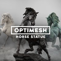 Horse Statue - PBR Low-poly