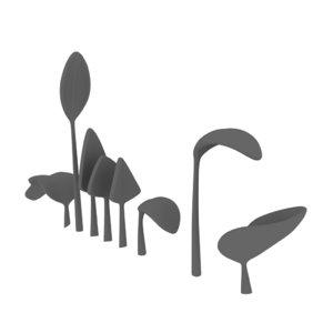 3D model aquatic vegetation