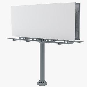 3D billboard advertising ad model