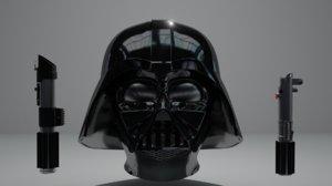 3D darth vader s helmet
