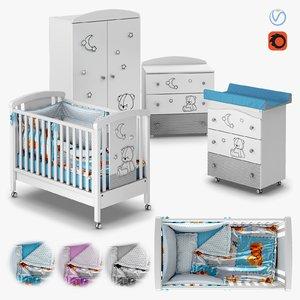 furniture stella baby room 3D model