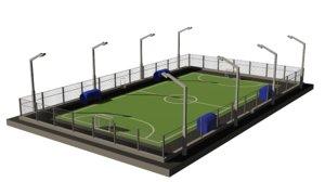 mini football field 3D model