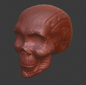 modelled skull calaca printing 3D