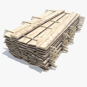 wood board stock 3D model