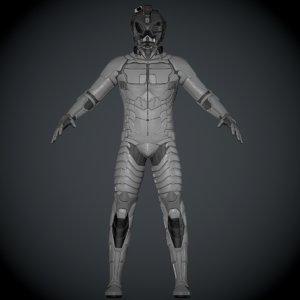 3D model suit