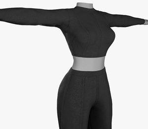 black women outfit 3D model