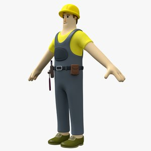 3D man toon character
