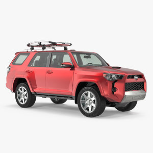 3D model toyota 4runner thule trail