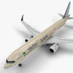 3D a321 neo saudia airlines