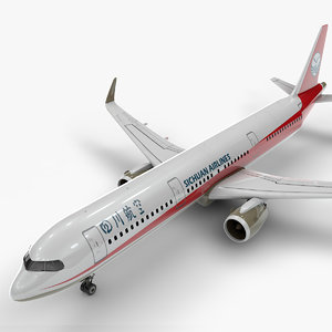 a321 neo sichuan airlines 3D