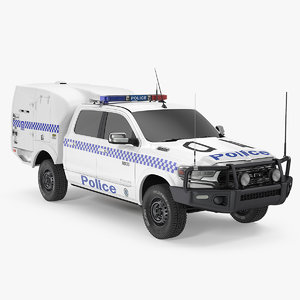 police paddy wagon dodge ram 3D