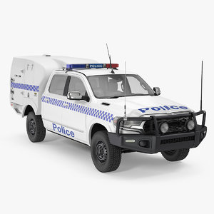 3D model police prisoner transport truck
