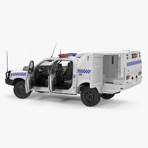 police prisoner transport truck model