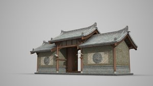 3D gate ancient dwellings model