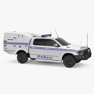 police paddy wagon simple 3D model