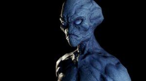 3D alien v1 character